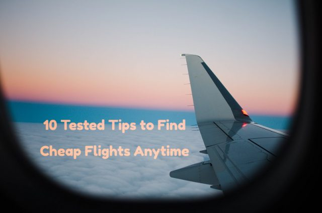 Tips to find cheap flights