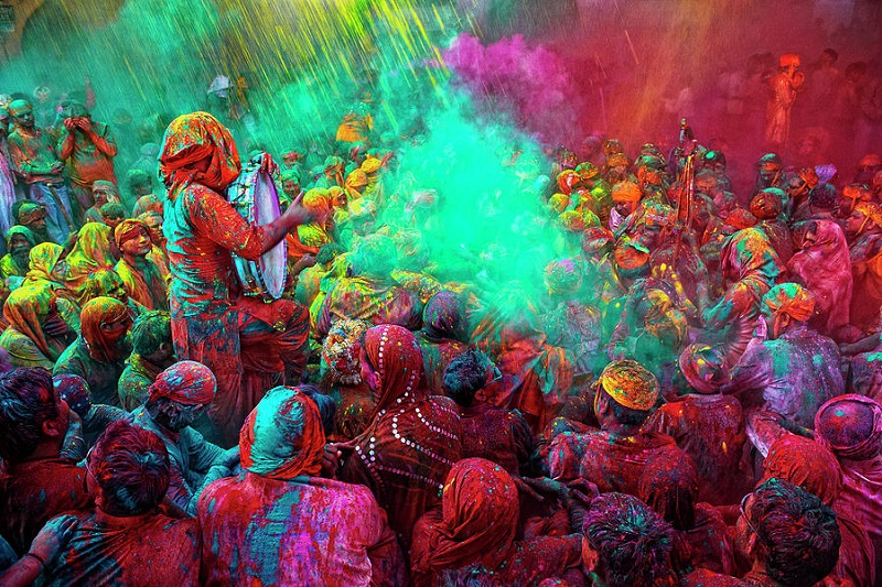 Holi festival Celebrations in Mathura