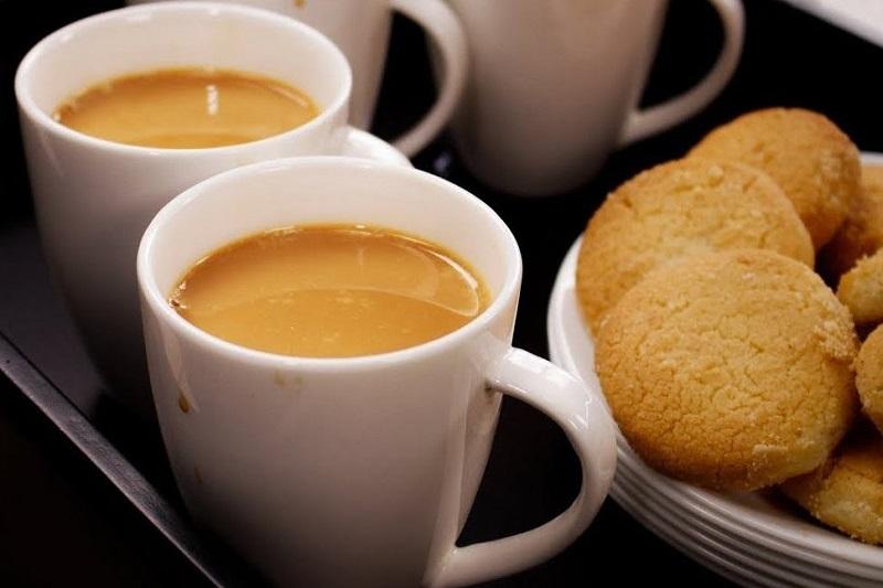 Irani chai and Osmania biscuits