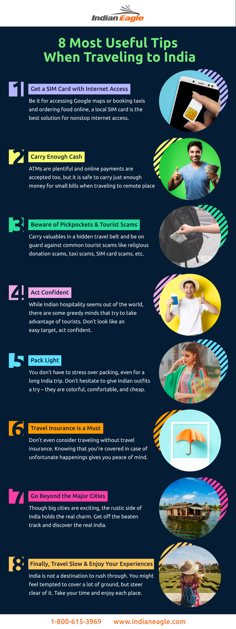 8 Most Useful Tips Before You Visit India - Infographic